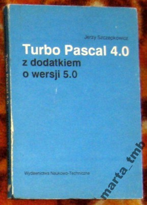 Turbo Pascal 4.0 z dodatkiem o wersji 5.0