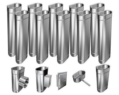 Kotol - 1mm CHIMNEY INSERT 12m 100x180 Tepelne odolný HIT