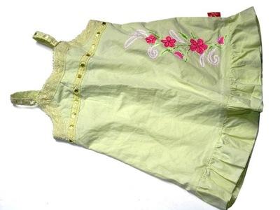 NOWA cytrynowa sukienka koronki kwiatek ___ 62/68