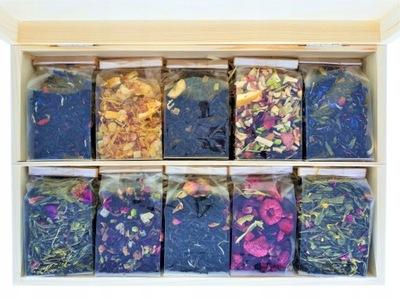 комплект 10 чай в деревянной коробке НА подарок !