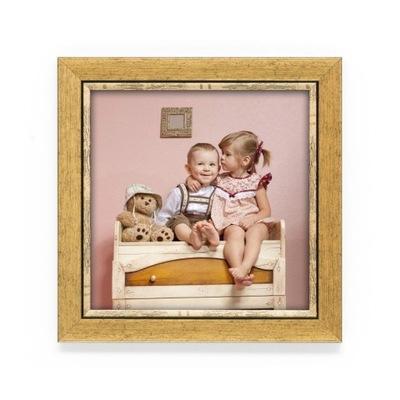 Ramka Scarlett złoty szczotkowany 15x15cm +Grawer