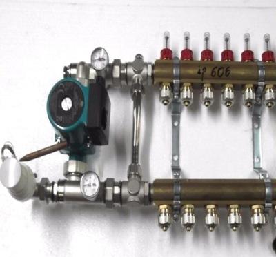 Predné podłogówki 8 čerpadla rotametry .600