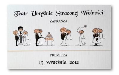 Wesołe Zabawne śmieszne Zaproszenia ślubne ślub 6071419882 Allegropl