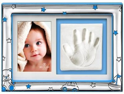 Fotorámik - FOTOGRAFICKÝ RÁM 16x22 narodenie krst BLUE