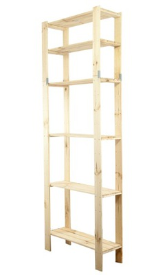 Стеллаж Макси -6L шкаф деревянная для кладовой, кухни
