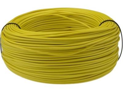 Kábel, drôt, kábel LGY H05V-K 0,5mm2 žltá 100m