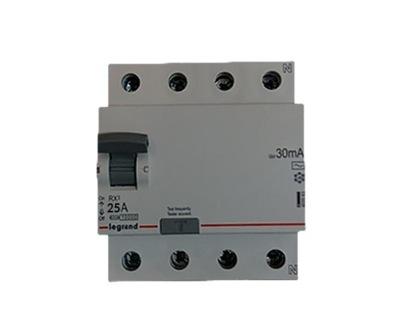 Prostredníctvom zvyškový prúd zariadenie 4P 25A 0,03 A 3F LEGRAND