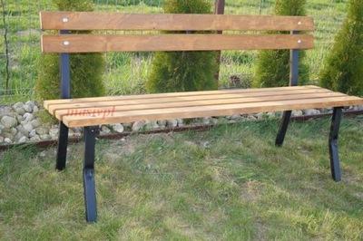 Ławka ogrodowa barowa okucia STAL Mocna i wygodna
