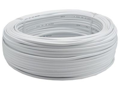 Kábel, drôt OMYp 2x0,75 plochý kábel biely 100m