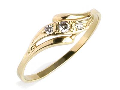 Złoty Pierścionek Zaręczynowy Z Cyrkonia Wys 24h 7579813061