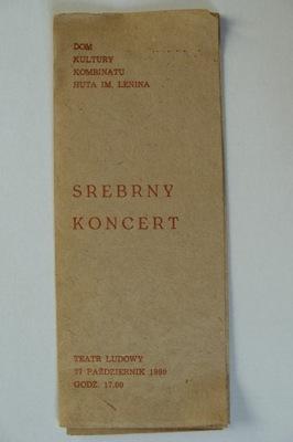 NOWA HUTA TEATR LUDOWY SREBRNY KONCERT 1980