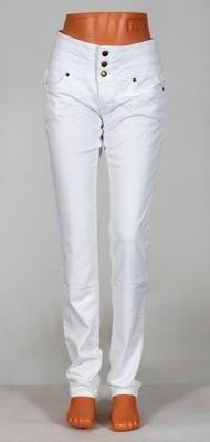 QS329 Białe spodnie jeansy JOHN BANER 3436 NOWE!