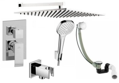 Set do kúpeľne a WC - PAFONI LEVEL CONCEALED SET PRE VYKUROVANIE 40