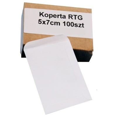 Koperty rentgenowskie Biała KOPERTA RTG zęba 5x7cm
