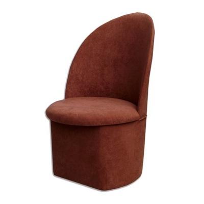 Fotel pufa z oparciem KRASNAL KOLOR BRĄZOWY 19