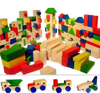 Hračky DREVENÉ bloky 210szt -PÍSMENÁ