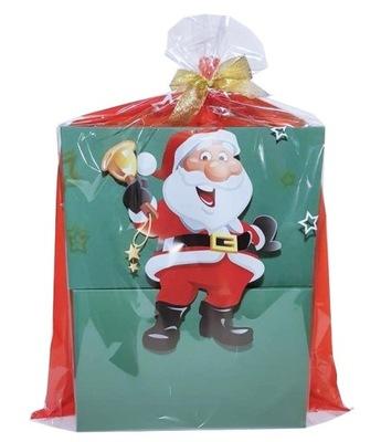 мешок сумочка новогодняя из фольги целлофан 40x57 MDA