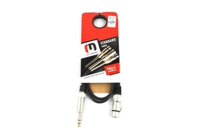 Kabel mikrofonowy 3m XLR żeński-Jack stereo Red's
