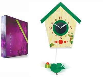 Detské hodiny, budík - Deti BIRD hodiny tiché s kyvadlom nový rám
