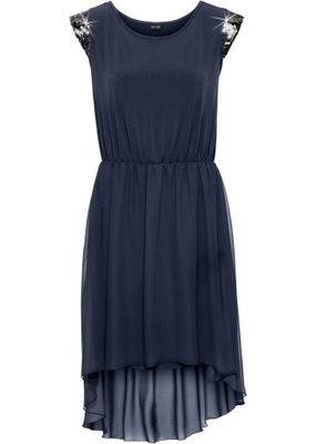 62850430b2 Sukienka błękitna z aplikacją Camaieu Orsay 38 M - 7597176256 ...