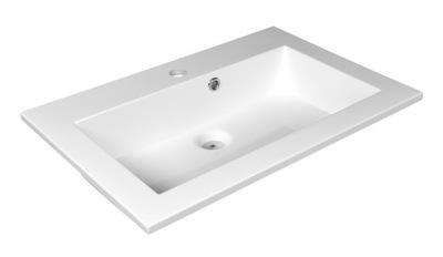 Umývadlo Umývadlový vstavaný nábytok 60x41 cm tenký náhrdelník