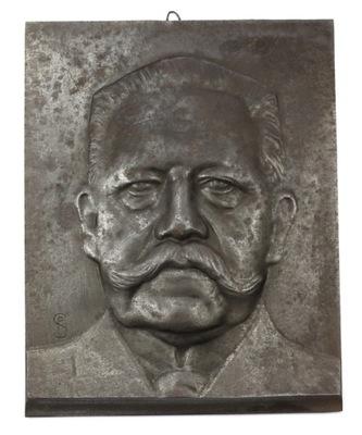 ГИНДЕНБУРГ Металлургический завод  металлическая Пластинка Пол Шульц 1935