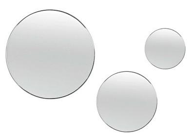 Zrkadlá (LED) Sada 3x kúpeľňa zrkadlo KRUH, Kolo 25-30-60
