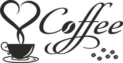 NÁLEPKA NA KUCHYNSKEJ stene nálepku káva cafe L