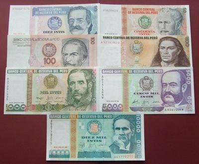 ZESTAW BANKNOTÓW PERU !!! UNC !!! AMERYKA