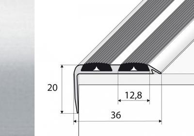 Планка 120см лестница нескользящие серебро A37N