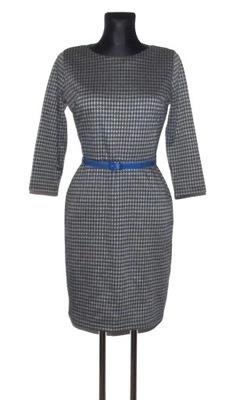 1377ea1b41 sukienka pepitka- rozmiar 36 - 7312416434 - oficjalne archiwum allegro