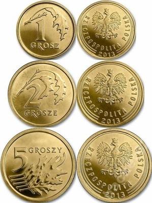 2013 - 1 ,2 ,5 копеек комплект Royal Mint - RM- 3 штук