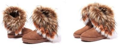 d50dbe73fd66e kozaki śniegowce eskimoski z futerkiem 27 19,5 cm 7818985418 ...