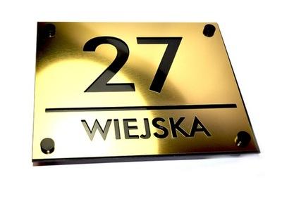 Číslo na domácej méte 30 x 25 cm