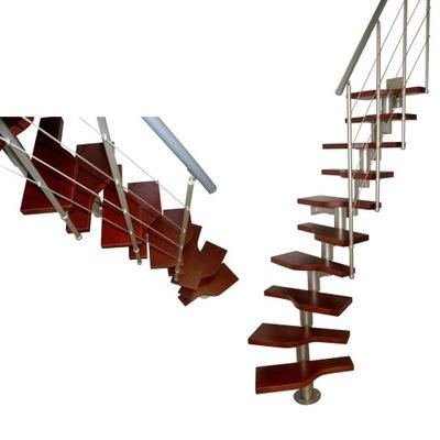 Schody modulárny BARD modelový RAD 140 12 prvkov