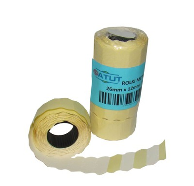 Značky pásky pre metkownicy 26x12 biela 15pcs vlna