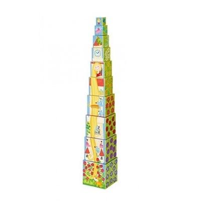 HABA Super piramidka, wieża 10 kostek ROSZPUNKA