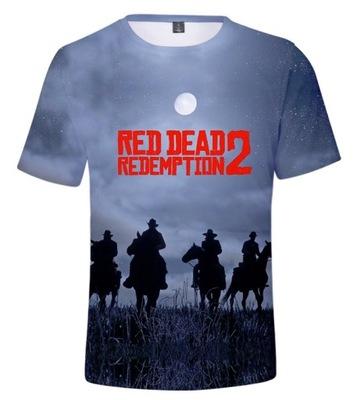 Koszulka nadruk 3D RED DEAD REDEMPTION 2 T-shirt