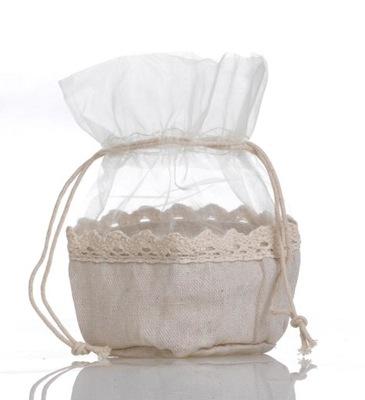 Красивый мешочек на небольшой подарок органза джут