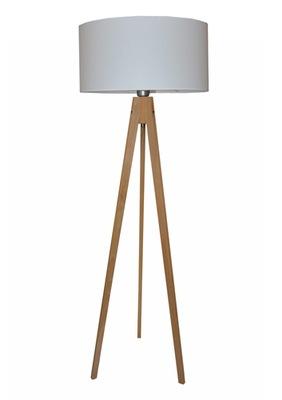 Podlahová lampa Drevený Statív SVEA Biela-L