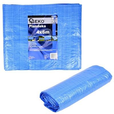 Krycia plachta - Celta - Plachta 6x10m modrá silná super kvalita 75g