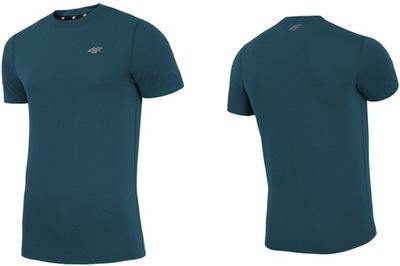 9566fafb087750 4F T-shirt męski fitness TSMF003 - zielony L - 5115287861 ...