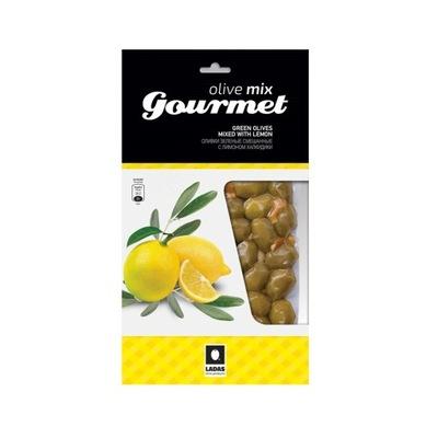 Зеленые оливки Халкидики с лимоном 250 г