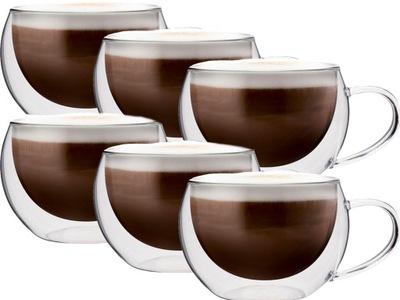 СТАКАНЫ ТЕРМОСТОЙКИЕ кофе CAPPUCCIONO ??? комплект