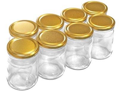 Včelárske potreby - 0,5l nádoby s viečkom + GOLD 8ks 500ml čiapky