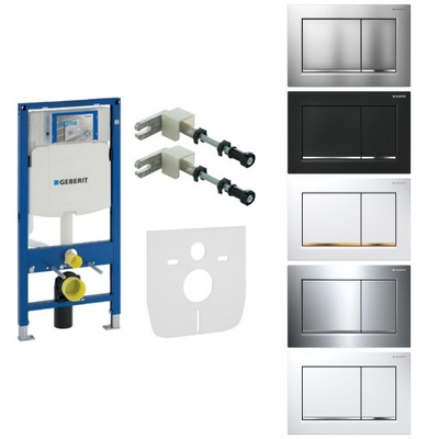 Montážny rám pre závesné WC - GEBERIT up320 rám pre škrupiny, tlačidlo Krakó