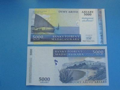Мадагаскар Банкнот 5000 Ариари UNC 2007 / 12 P-94