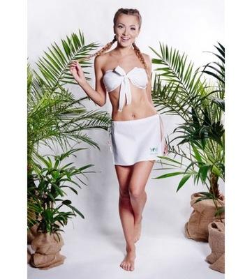 Šaty pre sauna ASILI sukne + nohavičky M béžová YEYE