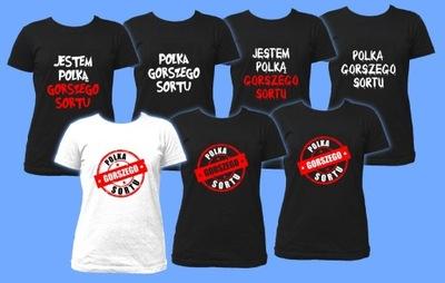Koszulki POLKA GORSZEGO SORTU t-shirt damski