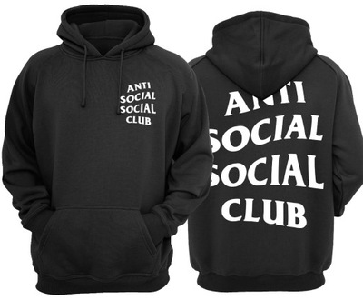 czerwona bluza męska anti social social club